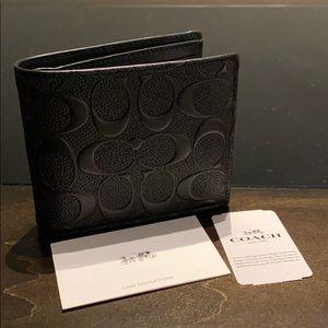 Coach signature men's wallet